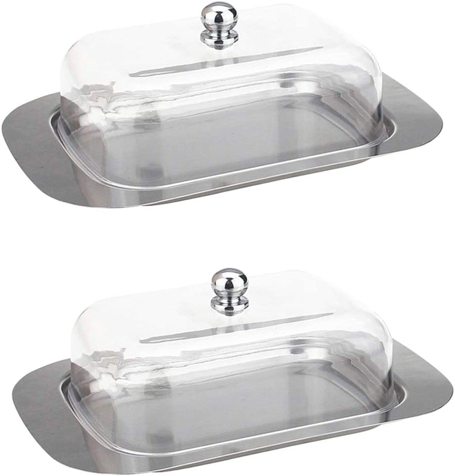 Butter Dish Stainless Steel Tray Holder Container With Lid For Breakfast-02