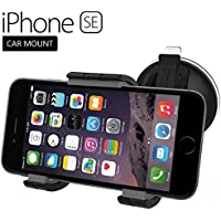 iPhone SE Car Mount Dock - Windshield & Dashboard CompatibleNew 2016 Release (Encased