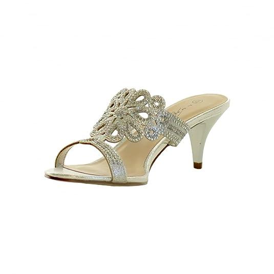 LUNAR Lunar Womens Shoe Glimmer FLR400 Silver 38 AbrIX5pF