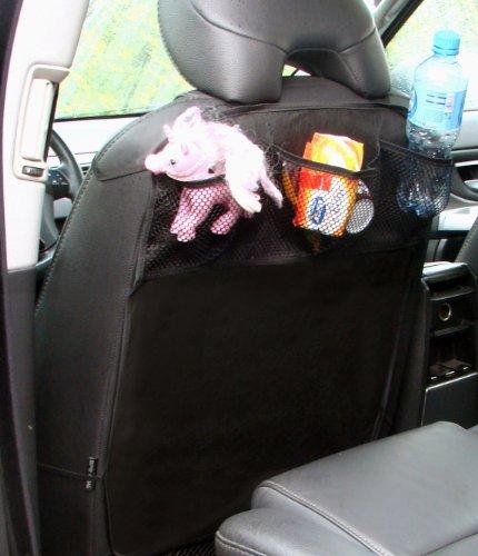 Handycop® Rückenlehne Schmutz Schutz + Ablage Netz - Kinder Urlaub Auto Fahrersitz mit Gummizug