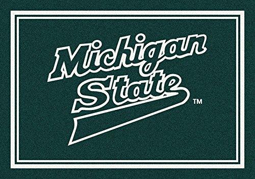 NCAA Team Spirit Rug - Michigan State Spartans, 5'4'' x 7'8'' by Millilken