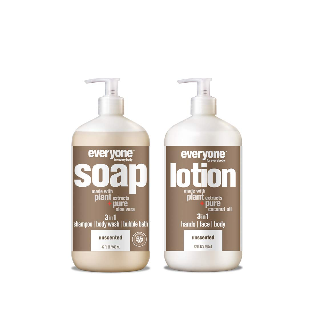 Everyone Soap & lotion combo unscented, 32 oz, 2Count by Everyone