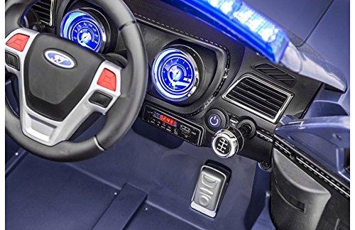 BC BABY COCHES BC Babycoches-Coche electrico 12 V para Niños Imitacion policia, Ruedas Caucho, Sirena, Luces moviles, megafono, Mando Parental. Color Azul.