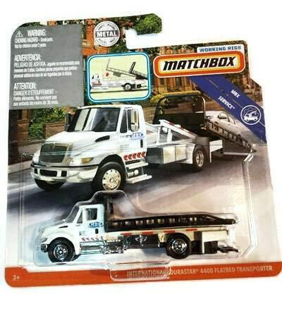 Matchbox Working Rigs International Durastar 4400 Flatbed Transporter in White
