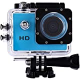WinnerEco 2.0inch120 Degree Wide-angle Full HD 30M Waterproof Sports Action Camera DV DVR (Blue)