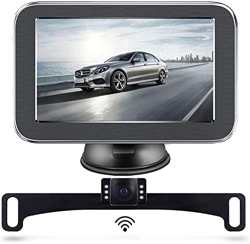Wireless Backup Camera, Backup Camera, LASTBUS Anti-Theft Rear View 5 Inch Monitor and Waterproof Night Vision Reversing Camera for Car, Van, Truck, SUV, RV, Pickup