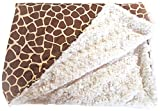 GoodDogBeds 60 by 72-Inch Cuddle Fabric Dog Blanket, X-Large, Brown Giraffe