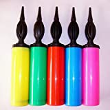 Partymane Manual Balloon Inflator Air Pump (Assorted Colours)