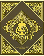 Monk Character Sheet Journal: DnD Notebook With 50 Character Pages and 100 Mixed Pages (Lined, Graph, Hex & Blank)For Role Playing Fantasy Games I Campaign Adventure Planner Gifts For RPG Players To Create Characters, Maps, Track 5e Gameplay, Plan & More