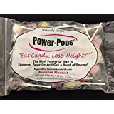 """Power Pops """"Assorted Flavors"""" Weight Loss Lollipops Candy - 30 Count Bag"""