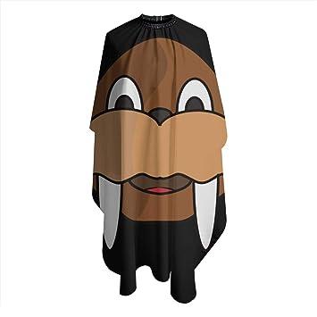 Amazon Com Cute Cartoon Walrus Haircut Salon Cape Hair Cutting Shampoo Waterproof Styling Capes Cloth For Adult Beauty