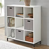 Better Homes and Gardens 9-Cube Organizer with Metal Base - White Finish