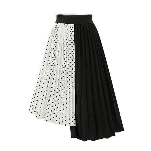 Falda larga de las mujeres Modelo de punto de cintura alta de las ...