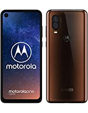 "Motorola One Vision Dual SIM, 128GB, 48MP, Android 9 Pie, Display CinemaVision FHD+ da 6,3"", Bronzo (Bronze Iridescent)"