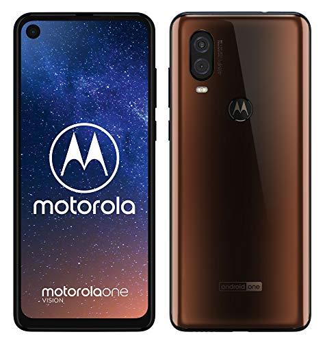motorola one vision Dual-SIM Smartphone (6,3-Zoll-FHD+-Display, 48-MP-Sensor, 12-MP- + 5-MP-Dual-Kamera, 128 GB/4 GB…