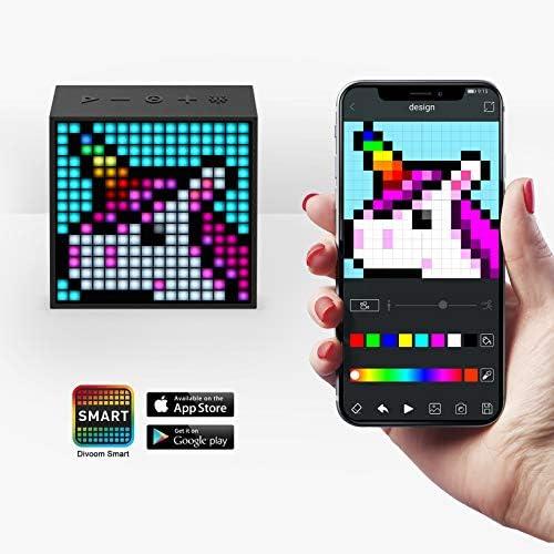 Divoom Timebox Evo Portable Bluetooth Pixel Art Speaker with 256 ...