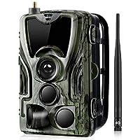 Suntek LTE HC-801Plus - Cámara de caza invisible (30 MP, 4G, 44 ledes negros, 2 K, vídeo de 0,2 segundos)