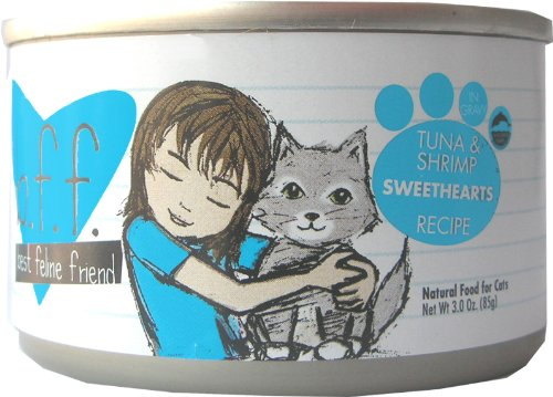 Best Feline Friend Cat Food, Tuna and Shrimp Sweethearts Recipe, 3-Ounce Cans (Pack of 12), My Pet Supplies