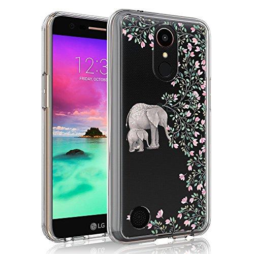 Case for LG K20 V/LG K20V/LG K20 Plus/LG Harmony/LG V5/LG Grace LTE/LG VS501/LG K10 2017, SYONER [Scratch Resistant] Ultra Slim Clear Phone Case Cover [Elephant]