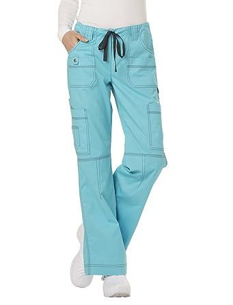 112993554d6 Amazon.com: Dickies Gen Flex Women's Youtility Drawstring Elastic Waist Scrub  Pant X-Large Petite ICY Turquoise: Work Utility Pants: Clothing