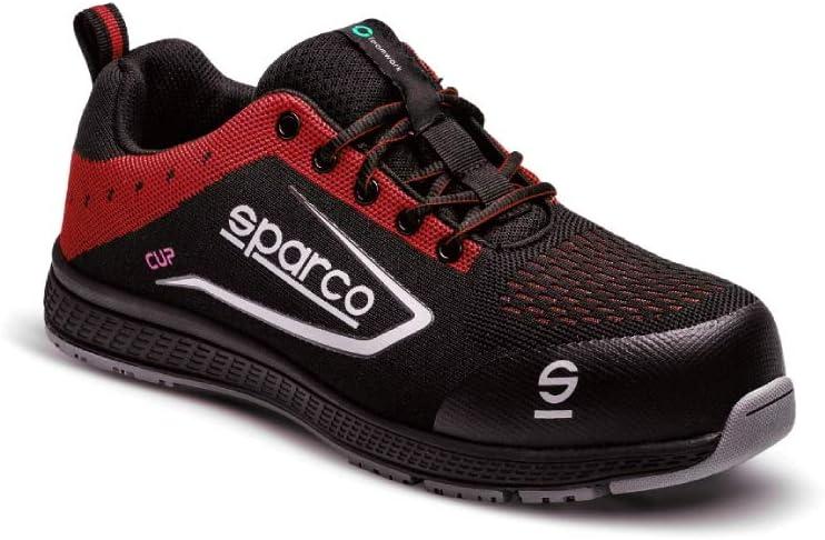 Sparco - Zapatillas Cup S1P Black/Rojo talla 43: Amazon.es: Coche y moto