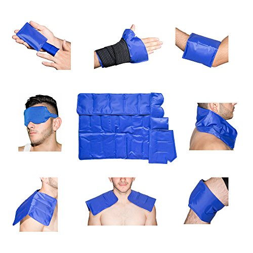 Centrus Hot   Cold Pain Relief Ice Pack For Hot   Cold Therapy   Reusable Gel Pack For Injuries   Best As Heat Wrap Or Cold Pack For Back  Waist  Shoulder  Neck  Ankle  Calves And Hip  7 In 1