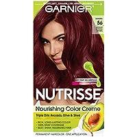 Garnier Nutrisse Nourishing Hair Color Creme, 56 Medium Reddish Brown (Sangria) (Packaging May Vary)