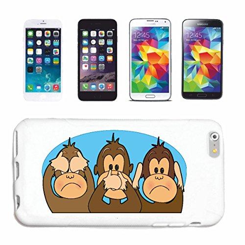 """cas de téléphone iPhone 7+ Plus """"TROIS SINGES NIX rien entendre VOIR RIEN DIRE CHIMPANZEE MONKEY GORILLA APE SILVER orang-outan RETOUR GIBBON"""" Hard Case Cover Téléphone Covers Smart Cover pour Apple i"""