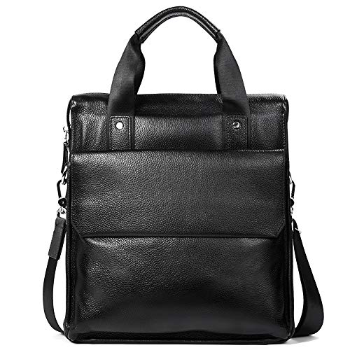 Fathers Day Gifts MANTOBRUCE Leather Briefcase for Men Women Business Handbag Simple 11 Messenger Shoulder Bag
