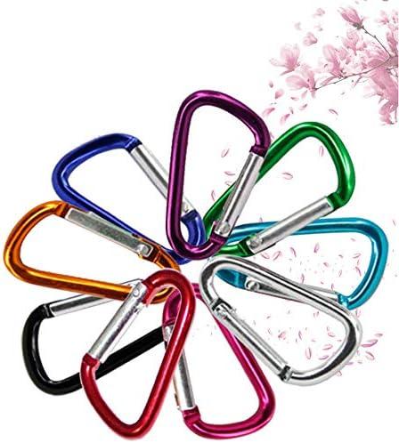 JPAKIOS D型アルミ合金カラビナアウトドアクライミング登山バックル安全早吊り充電宝物小吊りバックル-20パック (色 : Multi-Color 20 Pack)