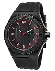 TechnoMarine 'Cruise Night Vision' Quartz Stainless Steel and Silicone Watch, Color:Black (Model: 115167) by TechnoMarine