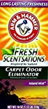 2 Pk, Arm & Hammer Fresh Sensations Island Mist Carpet Odor Eliminator 18 Oz