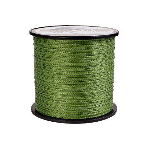 HERCULES Super Strong 300M 328 Yards Braided Fishing Line 60 LB Test for Saltwater Freshwater PE Braid Fish Lines 4 Strands - Army Green, 60LB (27.2KG), ()
