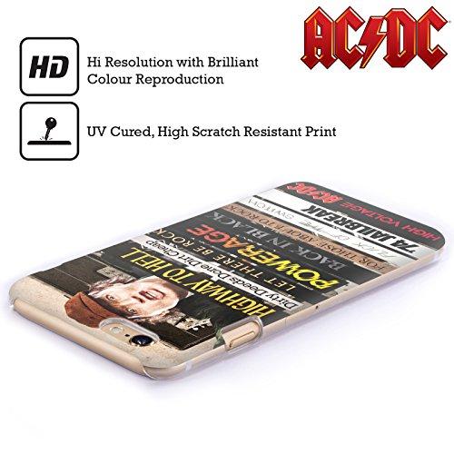 Officiel AC/DC ACDC Titres d'Album Collage Étui Coque D'Arrière Rigide Pour Apple iPhone 4 / 4S