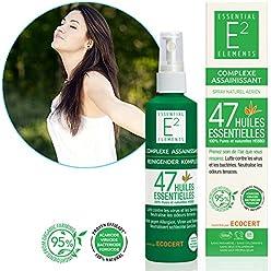 E2 Complexe Assainissant - Spray aérien naturel aux 47 huiles essentielles - Acaricide - Bactéricide - Fongicide - Virucide (Efficacité prouvée scientifiquement)