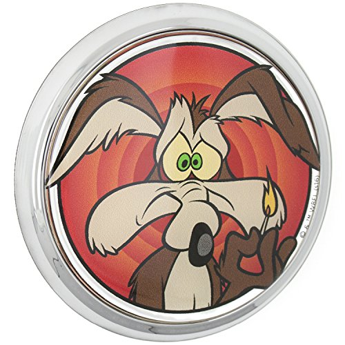 Fan Emblems Looney Tunes Wile E. Coyote 3D Car Emblem Domed/Multicolor/Chrome, Automotive Sticker Decal Badge Flexes to Fully Adhere to Cars, Trucks, Motorcycles, Laptops, Windows, Almost Anything (Best Motorcycle Jacket Australia)