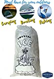 Crystal Clear Plastic Ice Bags with Cotton Draw