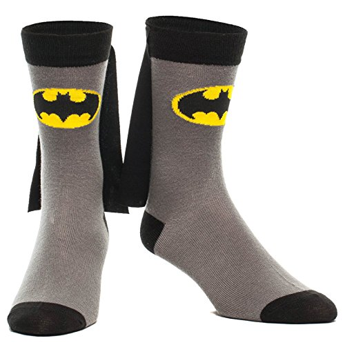 Batman Cape Crew Sock, Gray, Fits Shoe Size 5-12]()
