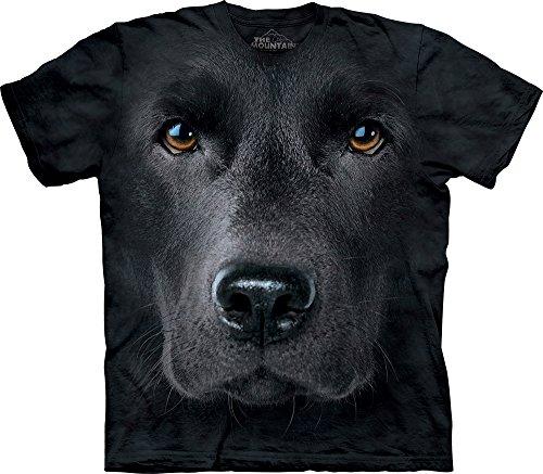The Mountain Black Lab Face Adult T-Shirt, Black, Large