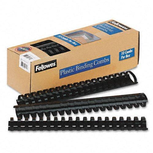 Plastic Comb Bindings, 1-1 2'' Diameter, 340 340 340 Sheet Capacity, schwarz, 10 Combs Pack by FELLOWES MFG. CO. a1aae7