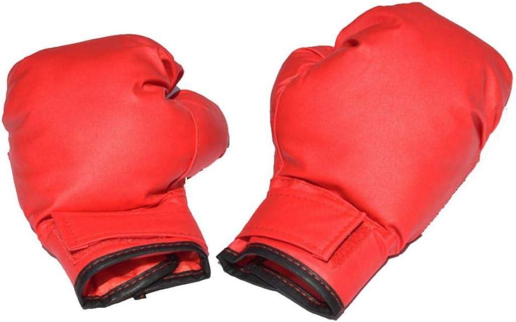1 Paire Enfants Gants De Boxe avec Le Nylon Buckles R/ésistant /À lusure Gants De Boxe De Combat Gants De Protection pour Les Enfants Rouge