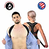 Spowerts Medical Posture Corrector for Women, Men and Kids - Adjustable & Comfortable Posture Brace for Slouching & Hunching - Discreet Design – Clavicle Support For Medical Problems (L-XL)