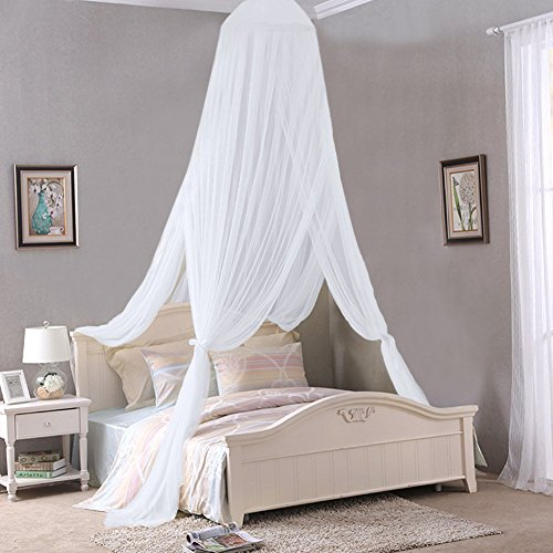 Mosquito-Net-Canopy-2-Layer-Polyester-Grenadine-Dome- & Mosquito Net Canopy 2 Layer Polyester Grenadine Dome Princess Bed ...