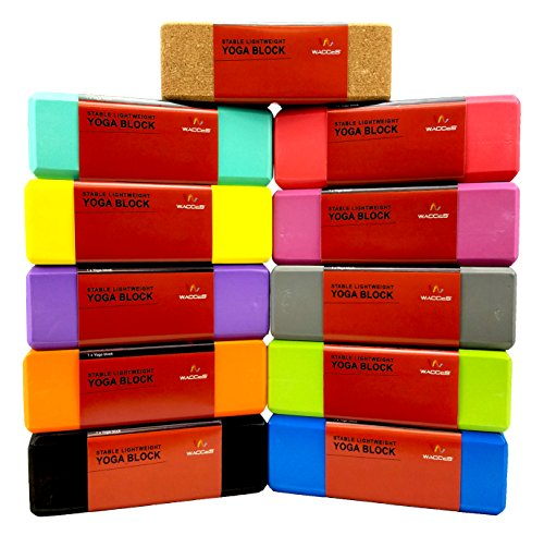 Wacces Foam Exercise, Fitness & Yoga Blocks Set of 2