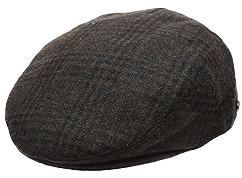 Blended Ivy Cap - Men's Premium Wool Blend Classic Flat Ivy Newsboy Collection Hat ,2363-Olive, X-Large