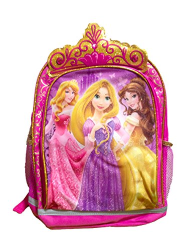 Disney Princesses Pink Backpack with Crown and