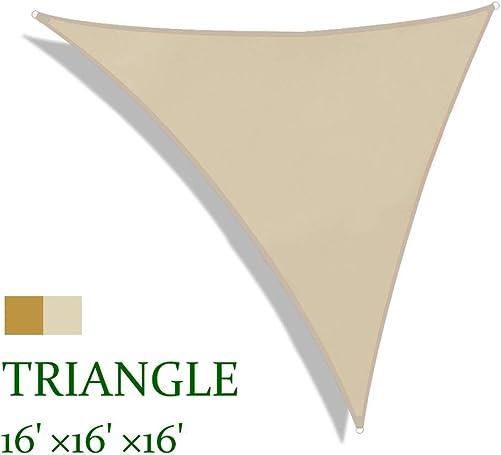 Lulu Home 16FTx16FTx16FT Triangle Sun Shade Sail