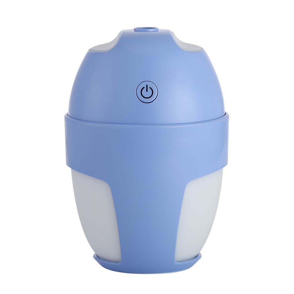 KingWo Creatitive Mini Lamp Humidifier Mini Night Light LED Humidifier Air diffuser purifier Atomizer (Blue)