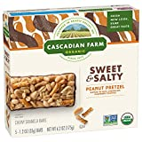 Cascadian Farm Organic Sweet and Salty Chewy Granola Bar Peanut Pretzel, 5 Count