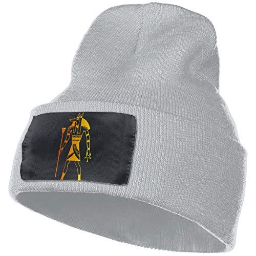Knit Skull Caps Rich Cotton Golden Dog Silhouette Beanie Caps Warm Soft Hats